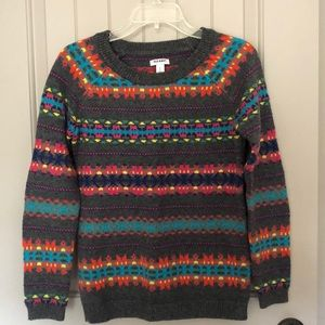 Bright fair isle sweater